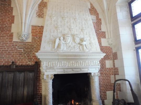 cheminée salle de réception château royal d'Amboise