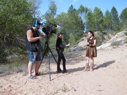 Photo prise en 2019, pendant le tournage du film Vortex, l'aube de la souveraineté